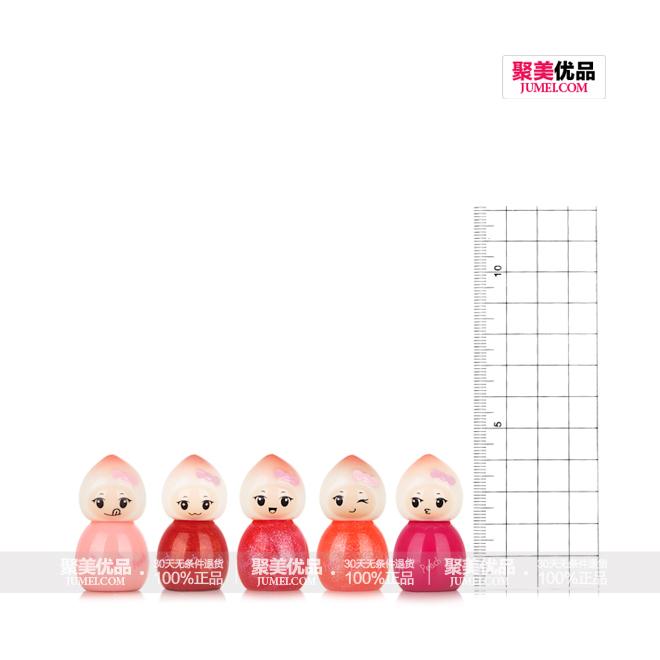 魔法城堡梦幻桃子小公主套装5色唇彩 5ml×5,产品尺子图