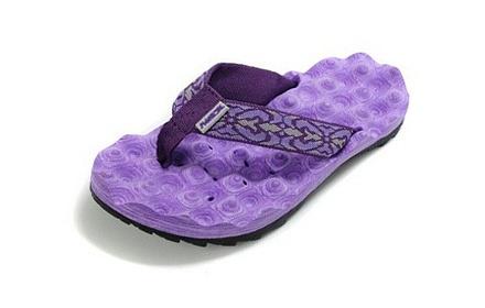 女款沙滩拖鞋紫色