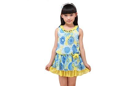 儿童连衣裙夏装蓝色