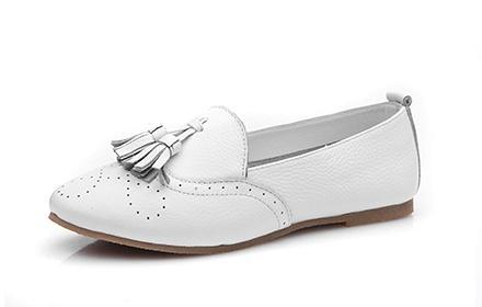 时尚潮流女单鞋白色