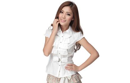 夏季女装短袖衬衫