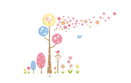 花颜墙贴壁灯-春晓-寻找春天的足迹
