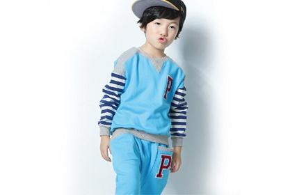 时尚男童儿童宝宝棒球服运动套装