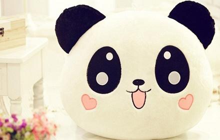 安吉宝贝趴趴熊猫70cm毛绒玩具