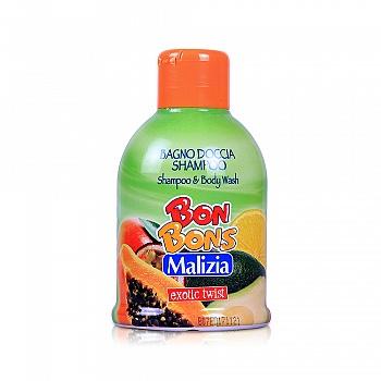 意大利•玛莉吉亚(Malizia )棒棒糖二合一洗发沐浴露(异国情调)500ml
