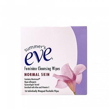 美国•夏依Summer's Eve女性清洁湿巾(清新花香型)16片
