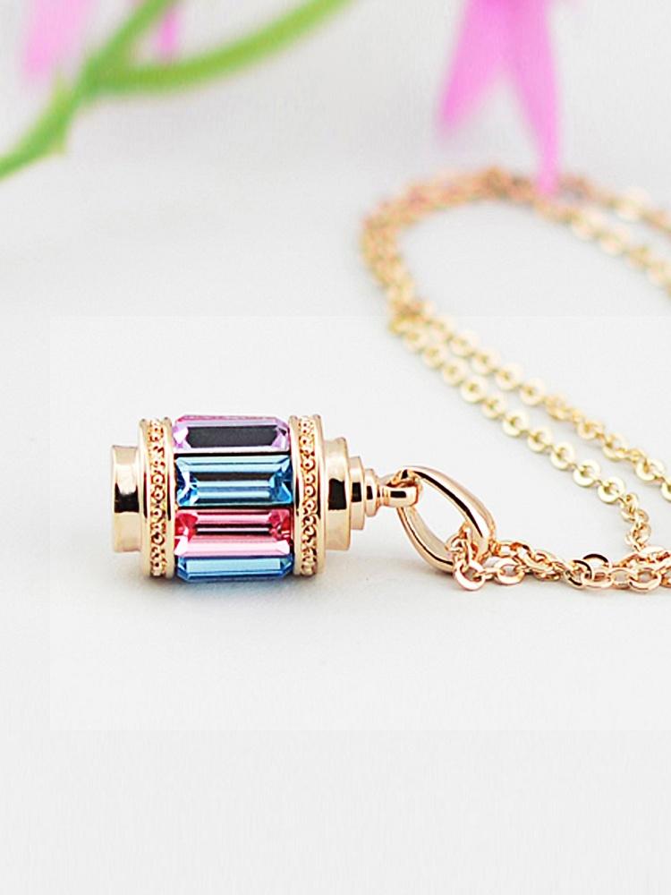 蛟蓓 玲珑塔水晶项链