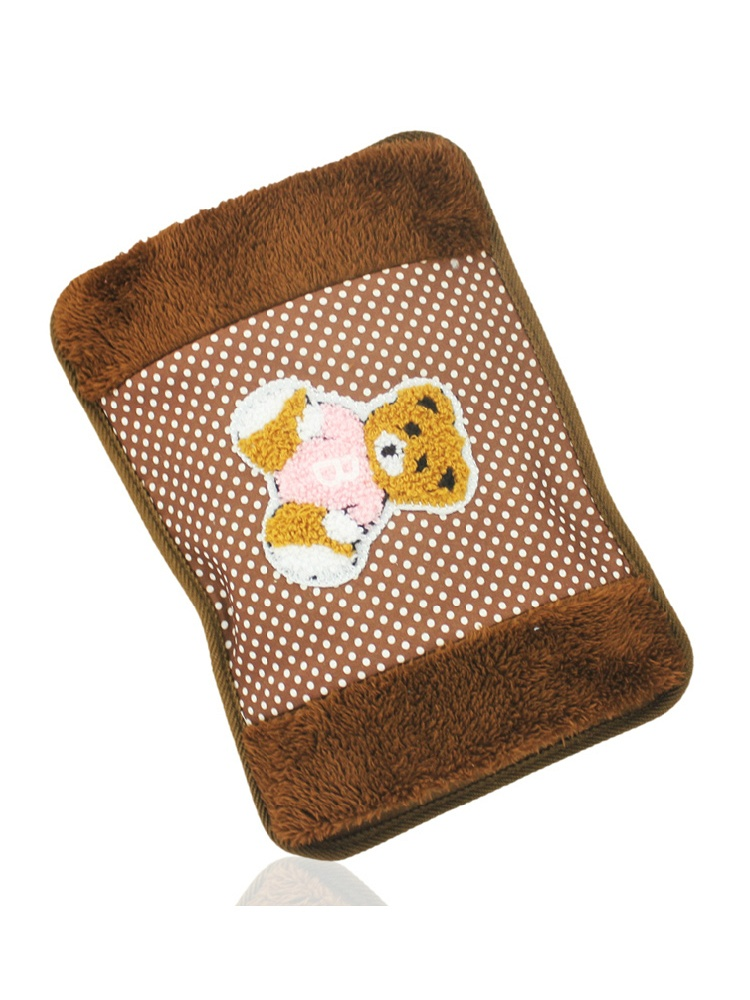 北极绒电热水袋棕色小熊