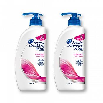 美国•海飞丝丝质柔滑型去屑洗发露750ml*2