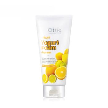 韩国•傲蝶(Ottie)水果酸奶泡沫洗面奶(柠檬)150ml