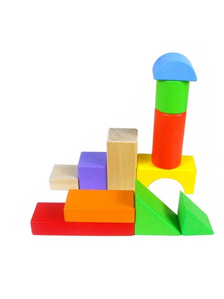铭塔a8042彩色木质积木玩具