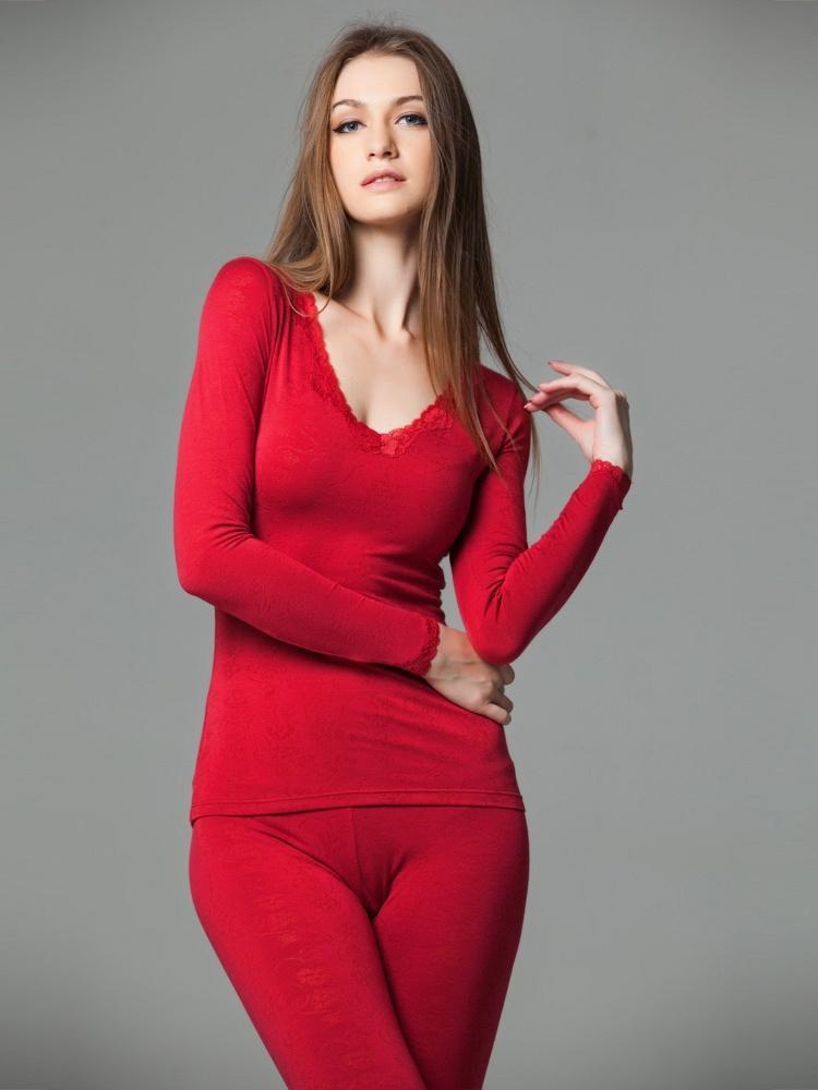 女薄款镂空蕾丝花边内衣红