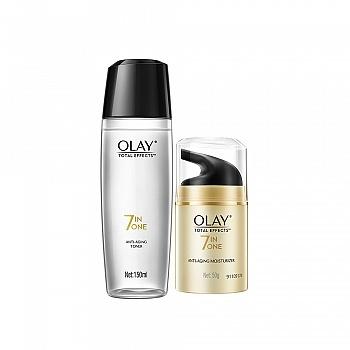 美国•玉兰油 (OLAY)护肤套装(多效修护霜 50g+多效修护醒肤水 150ml)