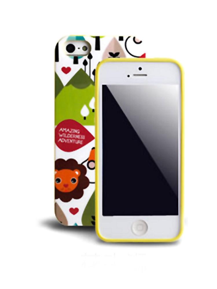 iphone5/5s动物园黄边手机壳
