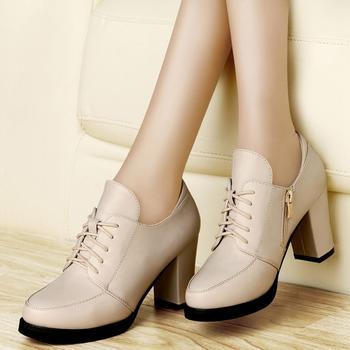 ?#25351;?#21333;鞋深口英伦风潮皮鞋女鞋