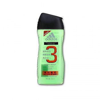 阿迪达斯 (Adidas)男士功能型香波沐浴露—源动激活   250ml