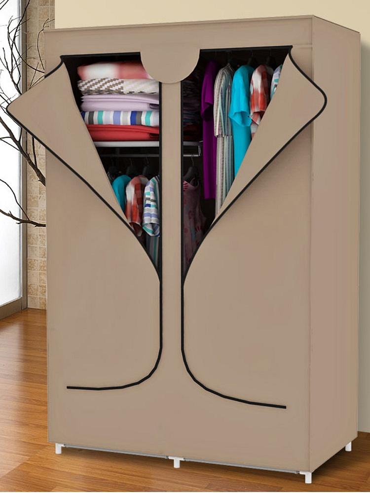 简易布衣柜 拉链式双开门布衣橱