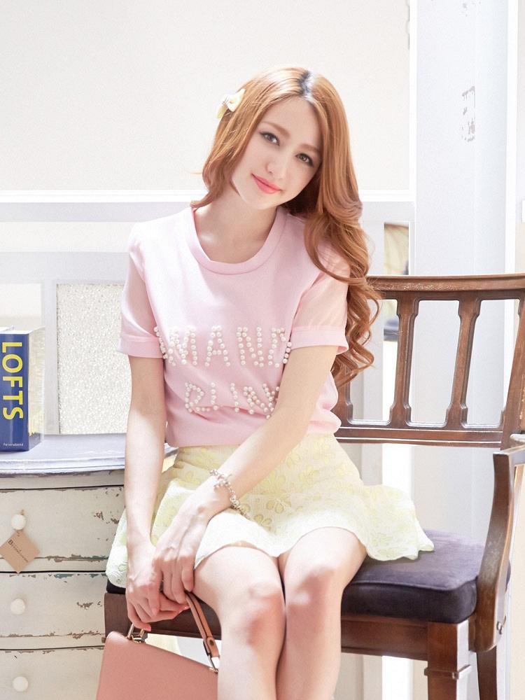 蕾丝镂空花纹蓬蓬半身短裙