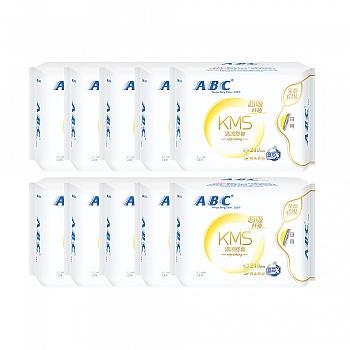 中国•ABC全日用纤薄棉柔表层卫生巾 80片 含KMS健康配方清爽舒适
