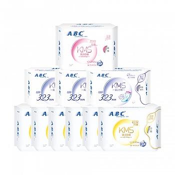 中国•ABC棉柔甜睡超吸防侧漏卫生巾 10包(日48片+夜8片+甜睡夜用9片)