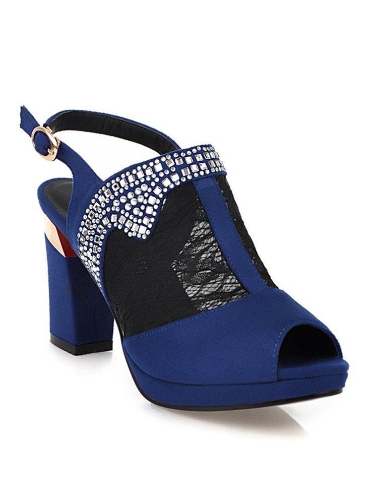 雪美妮鱼嘴凉鞋时尚网纱水机蓝-聚美优品-名冻水钻hl-31图片