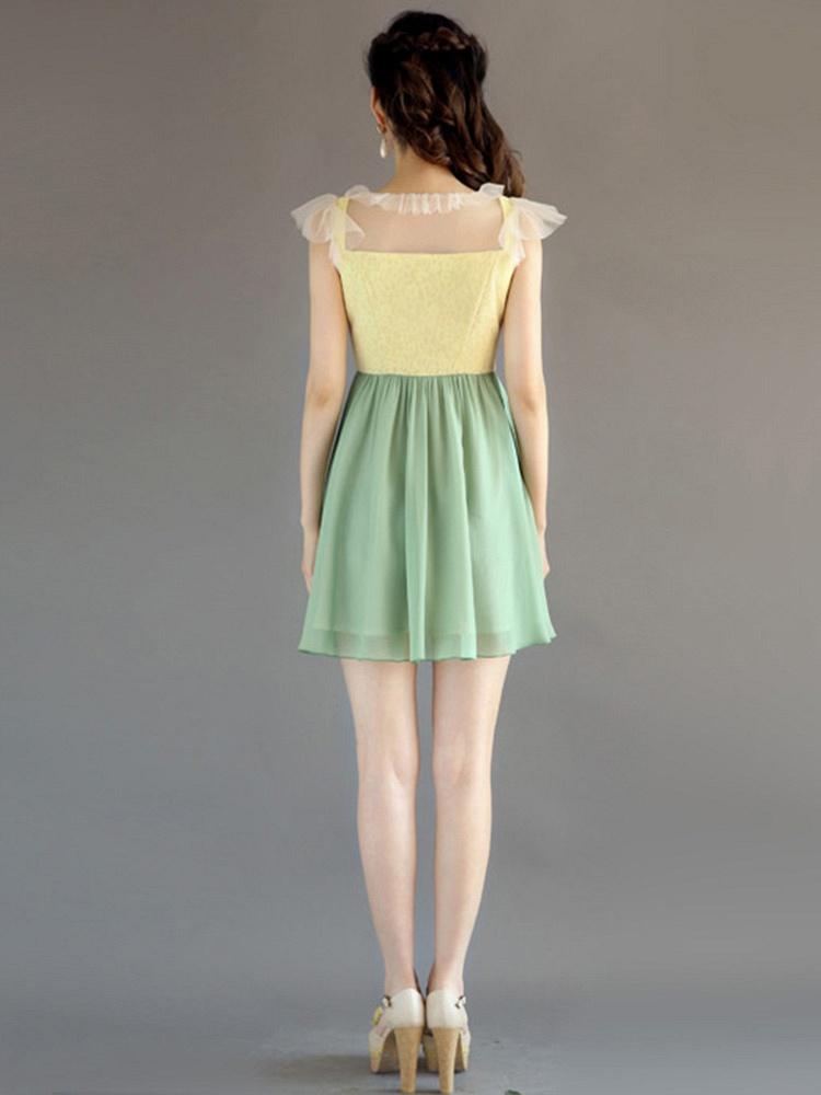 夏季新款连衣裙花边领口