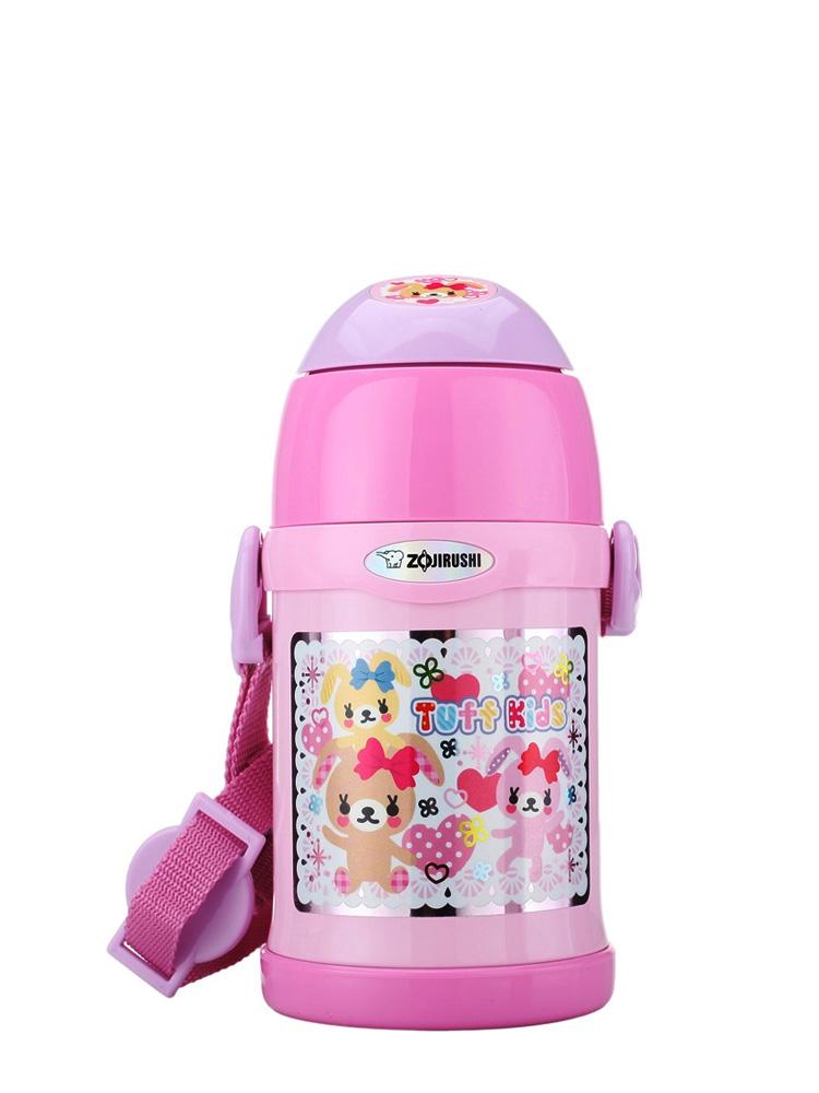 儿童卡通保温杯 粉红色 450ml