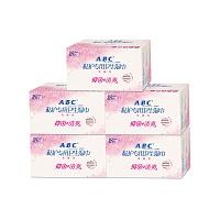 中国•ABC私护专用卫生湿巾5件装组合(18片*5盒)