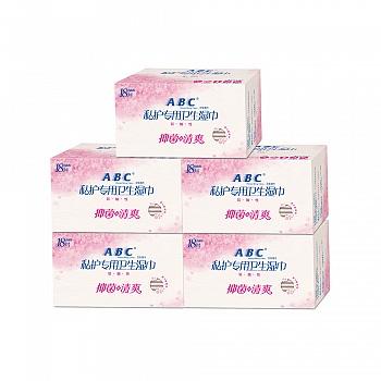ABC私处卫生湿巾5件装组合(18片*5盒)