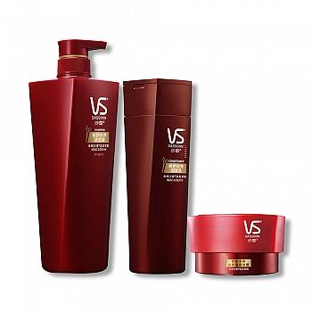 沙宣(VS)修护水养洗护发膜套装(修护水养洗发露750ml+润发乳400ml+发质重塑发膜150ml)