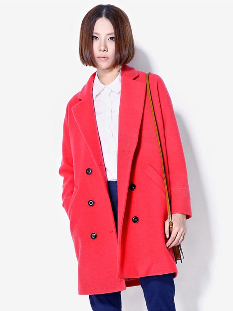 2014秋新款羊毛呢外套