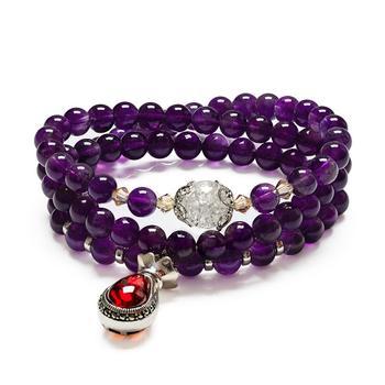 柏荷baihe福袋紫水晶手链项链