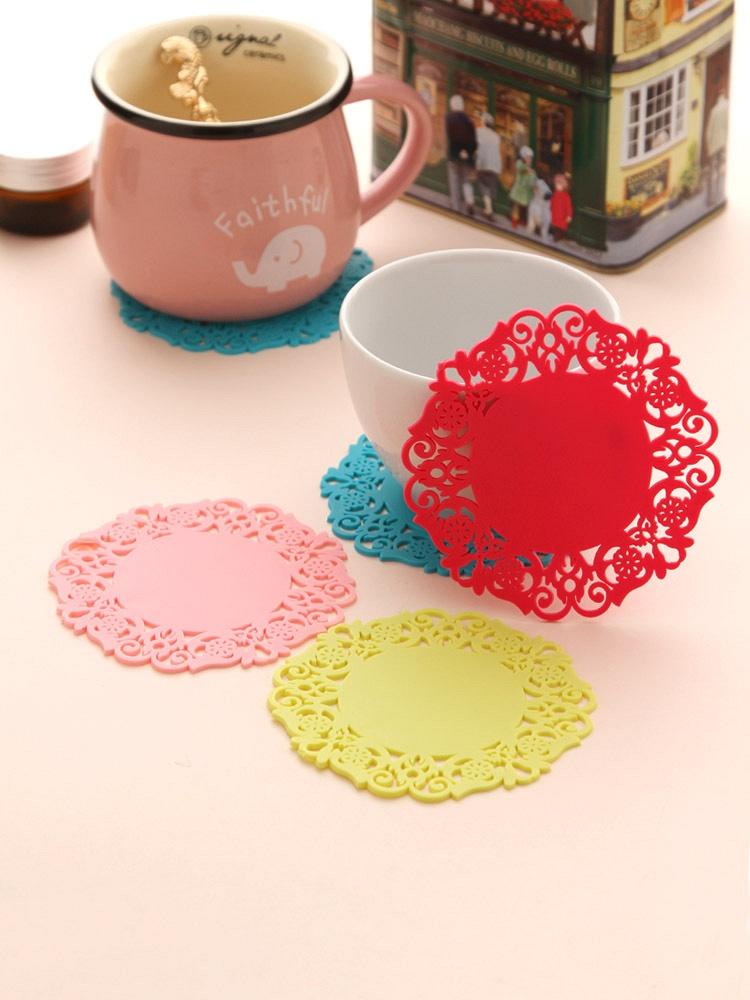 镂空玫瑰花纹碗垫盘垫杯垫