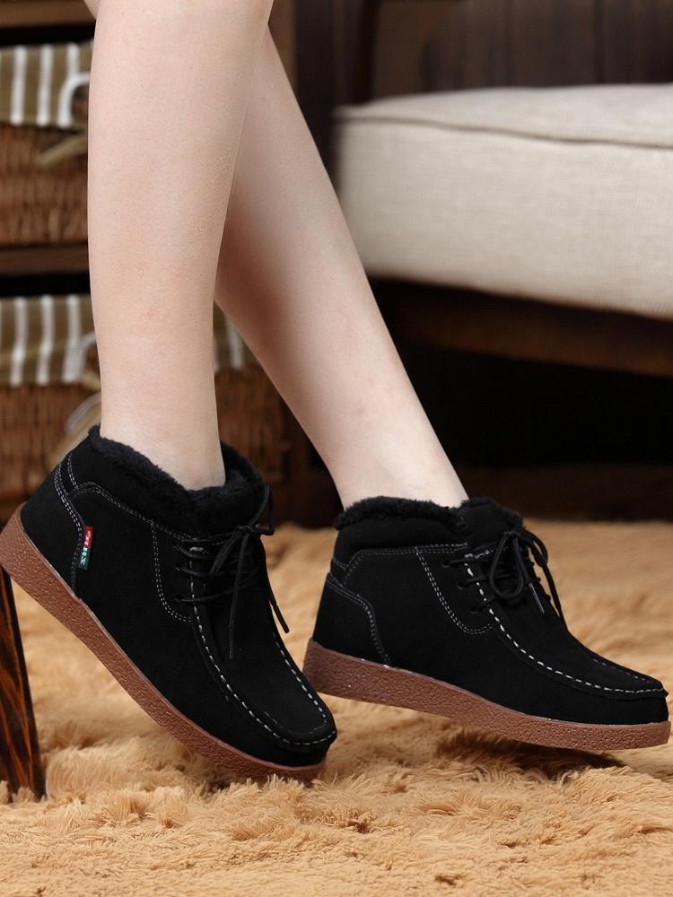 冬季棉鞋女平底 冬季棉鞋 棉鞋 中老年冬季棉鞋平底