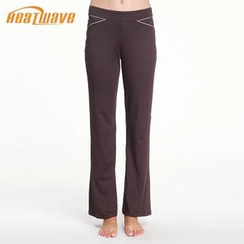 棕色时尚舒适弹力瑜伽长裤