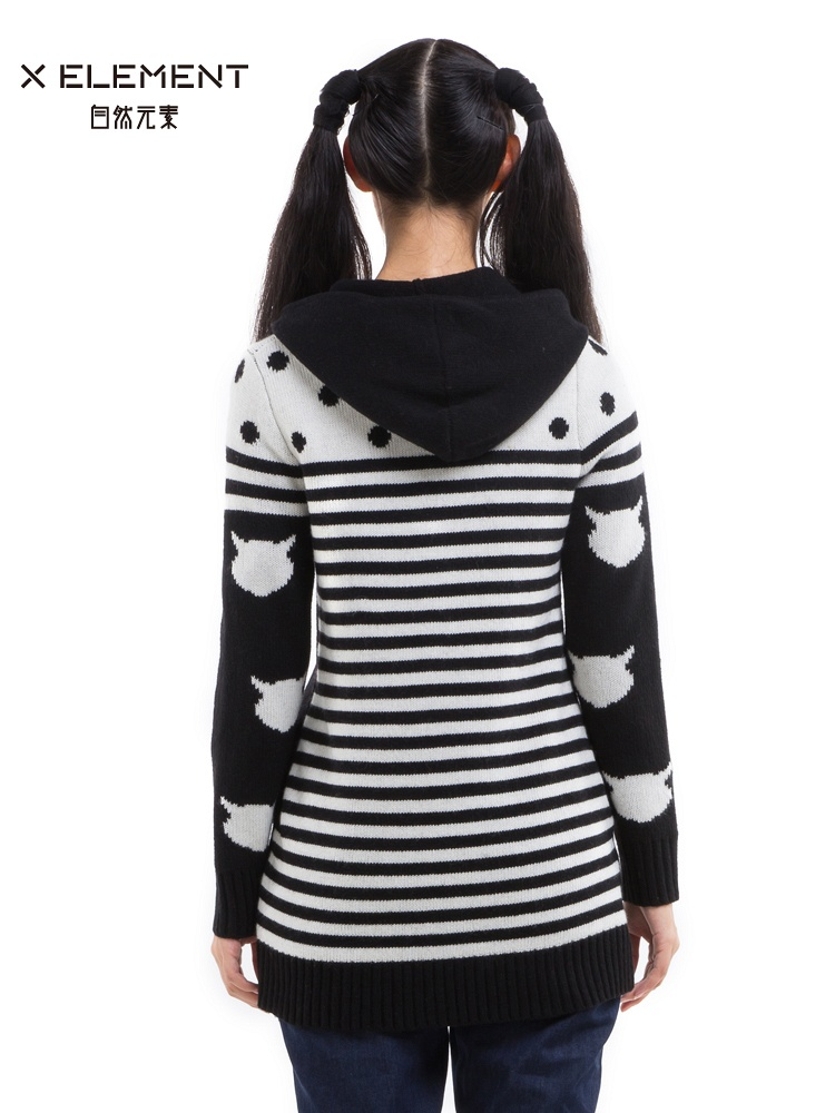 自然元素毛衣外套女装开衫连帽 - 聚美优品 - 最