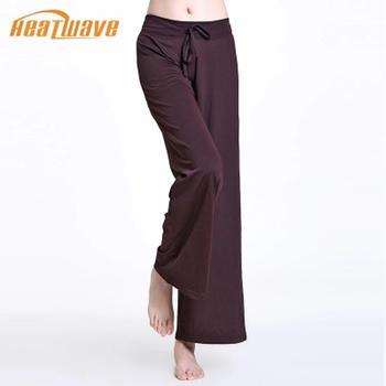 热浪 棕色吸湿透气瑜伽长裤