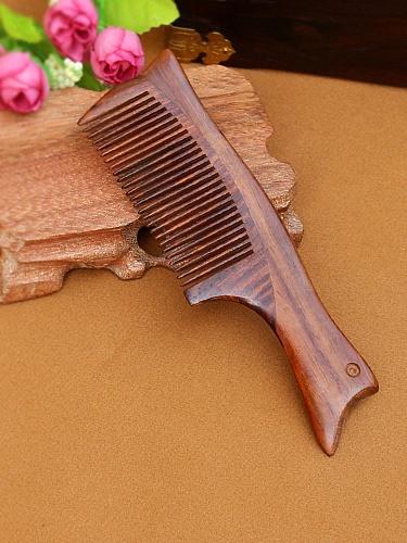 红木复古梳子12 整木制作 红木木梳