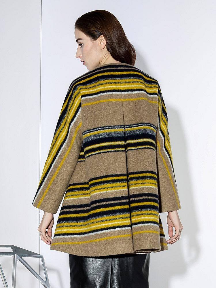 DAZZLE格子大衣图纸拼接黑色-聚美优品-最条纹v格子实木图片