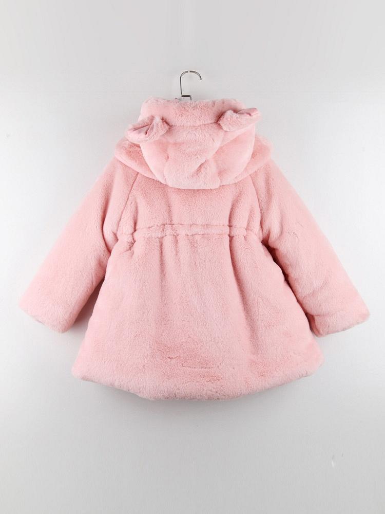 安杰娜·伯比 毛绒绒小兔大衣粉色 - 聚美优品
