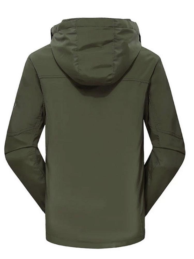 稻草人 男两件套冬季冲锋衣军绿 - 聚美优品 - 最