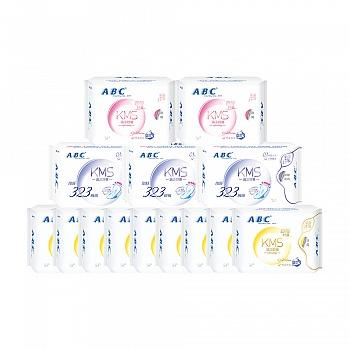 中国•ABC纤薄棉柔卫生巾日72片+夜16片+超长9片