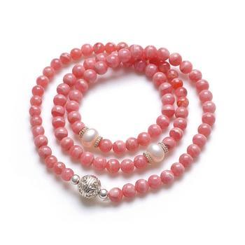 阿梵尼 红纹石手链珍珠手链
