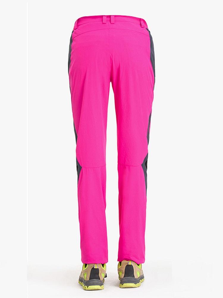 时尚拼色女士速干裤 玫红 - 聚美优品 - 最大正品