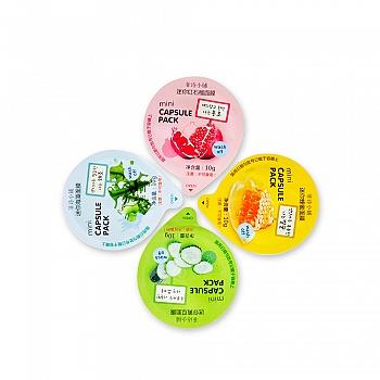 菲诗小铺(The Face Shop)迷你面膜4件套(海藻10g+黄瓜10g+红石榴10g+蜂蜜10g)