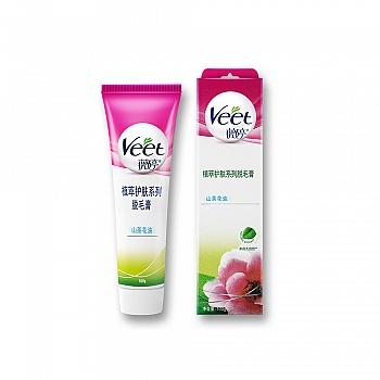 法国•薇婷(VEET) 植萃护肤系列脱毛膏山茶花油100g(娇嫩肌肤)