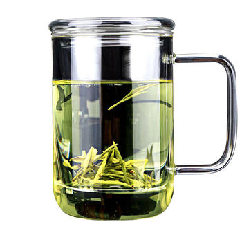 物生物君子杯带盖透明办公过滤茶