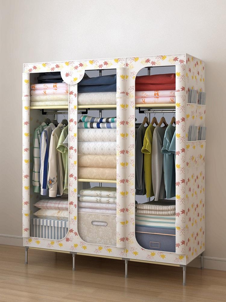 简易衣柜组装衣橱双人组合衣柜