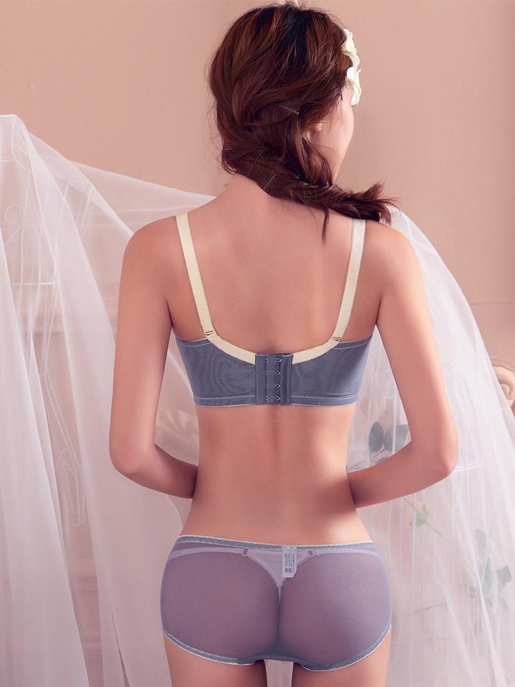 蕾丝花边性感蝴蝶结聚拢文胸套装