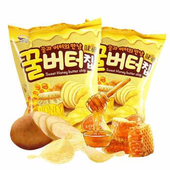 韩国九日蜂蜜黄油薯片60g*2袋